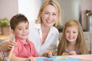 Foto mamma con figli